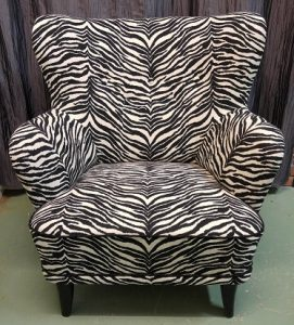 Laila-tuoli, zebra-kangas